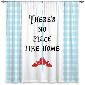 Decorative Window Treatments | Zara Martina - Theres No Place Like Home l | Inspiring Children Lady Like Ruby Slippers