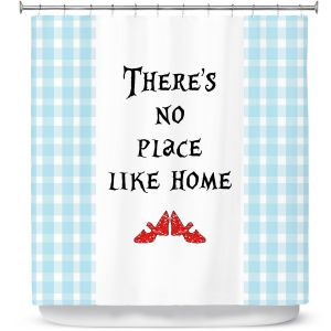 Premium Shower Curtains | Zara Martina - Theres No Place Like Home l | Inspiring Children Lady Like Ruby Slippers