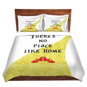 Artistic Duvet Covers and Shams Bedding | Zara Martina - Theres No Place Like Home ll | Inspiring Children Lady Like Ruby Slippers