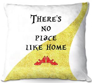 Throw Pillows Decorative Artistic | Zara Martina - Theres No Place Like Home ll | Inspiring Children Lady Like Ruby Slippers