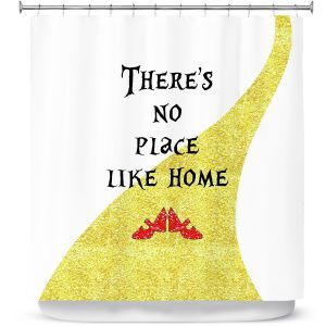 Premium Shower Curtains | Zara Martina - Theres No Place Like Home ll | Inspiring Children Lady Like Ruby Slippers