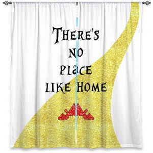 Decorative Window Treatments | Zara Martina - Theres No Place Like Home ll | Inspiring Children Lady Like Ruby Slippers