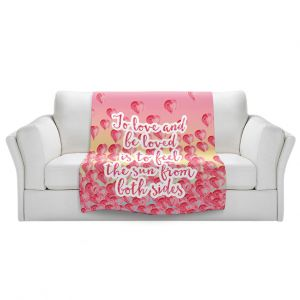 Artistic Sherpa Pile Blankets | Zara Martina - To Be Loved