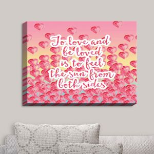 Decorative Canvas Wall Art | Zara Martina - To Be Loved | Quotes Patterns Hearts