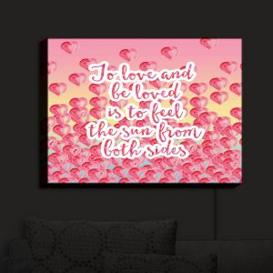 Nightlight Sconce Canvas Light | Zara Martina - To Be Loved | Quotes Patterns Hearts