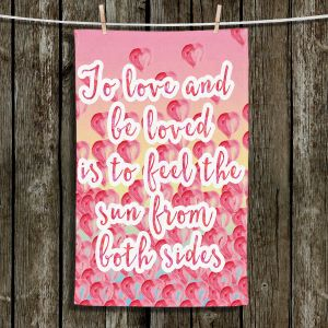 Unique Hanging Tea Towels | Zara Martina - To Be Loved | Quotes Patterns Hearts