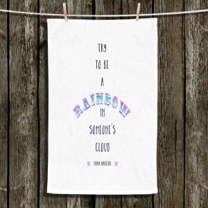 Unique Hanging Tea Towels | Zara Martina - Try to Be A Rainbow | Typography Inspiring