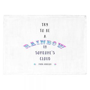 Countertop Place Mats | Zara Martina - Try to Be A Rainbow | Typography Inspiring