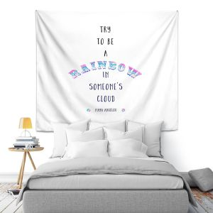 Artistic Wall Tapestry | Zara Martina - Try to Be A Rainbow | Typography Inspiring
