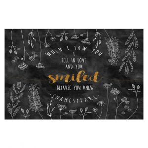 Decorative Floor Coverings | Zara Martina - When I Saw You Black Gold | Wedding Love