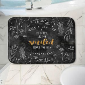 Decorative Bathroom Mats | Zara Martina - When I Saw You Black Gold | Wedding Love