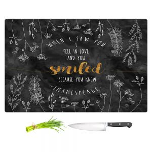 Artistic Kitchen Bar Cutting Boards | Zara Martina - When I Saw You Black Gold | Wedding Love