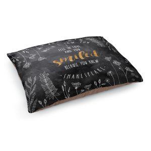 Decorative Dog Pet Beds | Zara Martina - When I Saw You Black Gold | Wedding Love