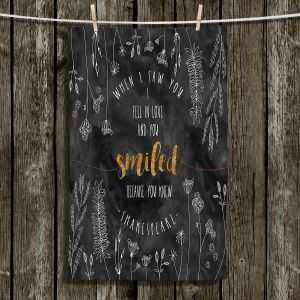 Unique Hanging Tea Towels | Zara Martina - When I Saw You Black Gold | Wedding Love