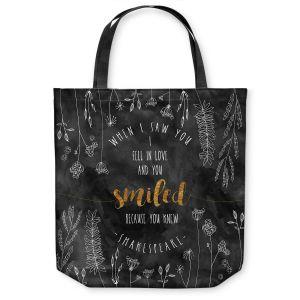 Unique Shoulder Bag Tote Bags | Zara Martina - When I Saw You Black Gold | Wedding Love
