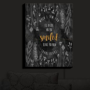 Nightlight Sconce Canvas Light | Zara Martina - When I Saw You Black Gold
