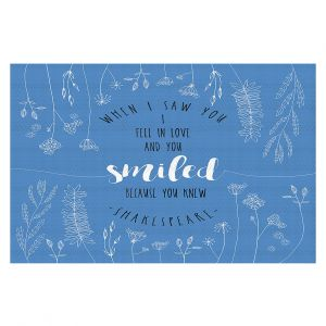 Decorative Floor Coverings | Zara Martina - When I Saw You Blue | Wedding Love
