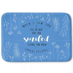 Decorative Bathroom Mats | Zara Martina - When I Saw You Blue | Wedding Love