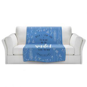 Artistic Sherpa Pile Blankets | Zara Martina - When I Saw You Blue | Wedding Love