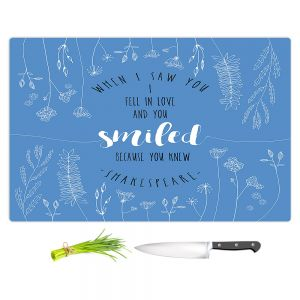Artistic Kitchen Bar Cutting Boards | Zara Martina - When I Saw You Blue | Wedding Love