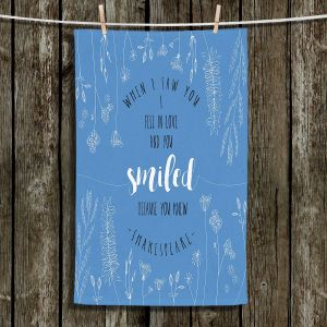 Unique Hanging Tea Towels | Zara Martina - When I Saw You Blue | Wedding Love
