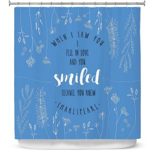 Premium Shower Curtains | Zara Martina - When I Saw You Blue | Wedding Love