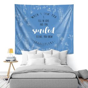 Artistic Wall Tapestry | Zara Martina - When I Saw You Blue | Wedding Love