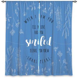 Decorative Window Treatments | Zara Martina - When I Saw You Blue | Wedding Love