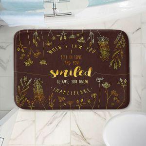 Decorative Bathroom Mats | Zara Martina - When I Saw You Chocolate Gold | Wedding Love