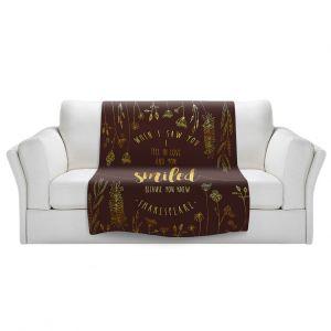 Artistic Sherpa Pile Blankets | Zara Martina - When I Saw You Chocolate Gold | Wedding Love