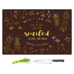 Artistic Kitchen Bar Cutting Boards | Zara Martina - When I Saw You Chocolate Gold | Wedding Love