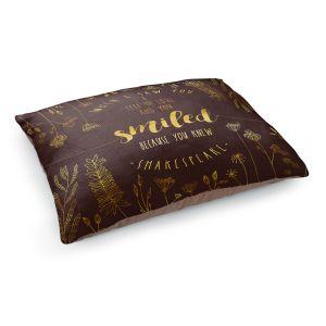 Decorative Dog Pet Beds | Zara Martina - When I Saw You Chocolate Gold | Wedding Love