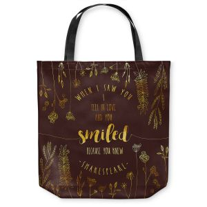 Unique Shoulder Bag Tote Bags | Zara Martina - When I Saw You Chocolate Gold | Wedding Love