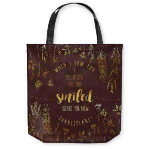 Unique Shoulder Bag Tote Bags | Zara Martina - When I Saw You Chocolate Gold | Wedding Love