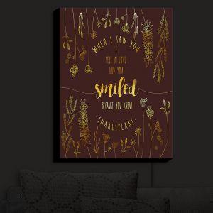 Nightlight Sconce Canvas Light | Zara Martina - When I Saw You Chocolate Gold