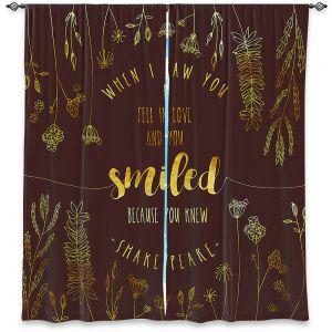 Decorative Window Treatments | Zara Martina - When I Saw You Chocolate Gold | Wedding Love