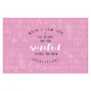 Decorative Floor Coverings | Zara Martina - When I Saw You Pink | Wedding Love