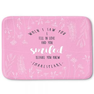 Decorative Bathroom Mats | Zara Martina - When I Saw You Pink | Wedding Love