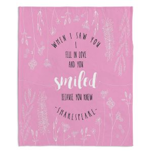 Decorative Fleece Throw Blankets | Zara Martina - When I Saw You Pink | Wedding Love