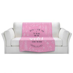 Artistic Sherpa Pile Blankets | Zara Martina - When I Saw You Pink | Wedding Love