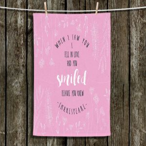 Unique Hanging Tea Towels | Zara Martina - When I Saw You Pink | Wedding Love