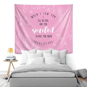 Artistic Wall Tapestry | Zara Martina - When I Saw You Pink | Wedding Love