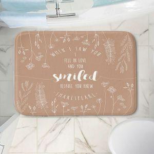 Decorative Bathroom Mats | Zara Martina - When I Saw You Tan | Wedding Love