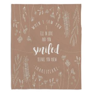 Decorative Fleece Throw Blankets | Zara Martina - When I Saw You Tan | Wedding Love