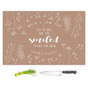 Artistic Kitchen Bar Cutting Boards | Zara Martina - When I Saw You Tan | Wedding Love