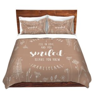 Artistic Duvet Covers and Shams Bedding | Zara Martina - When I Saw You Tan | Wedding Love