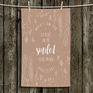 Unique Hanging Tea Towels | Zara Martina - When I Saw You Tan | Wedding Love