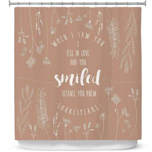 Premium Shower Curtains | Zara Martina - When I Saw You Tan | Wedding Love