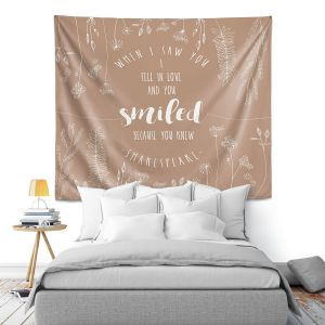 Artistic Wall Tapestry | Zara Martina - When I Saw You Tan | Wedding Love