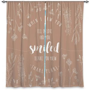 Decorative Window Treatments | Zara Martina - When I Saw You Tan | Wedding Love